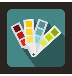 Color palette guide icon flat style vector image vector image