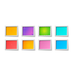 comic rectangular colorful frames composition vector image