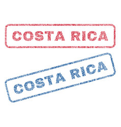 Costa rica textile stamps vector