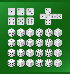 Dice gambling cubes in all possible positions vector