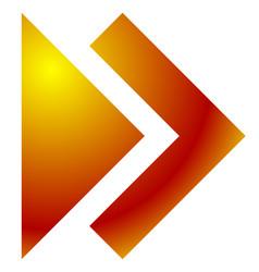 double arrow arrowhead pointing right next vector image