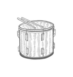 drum in hand-drawn style vector image