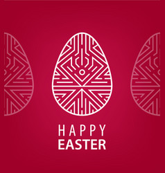easter egg with linear geometric decor vector image