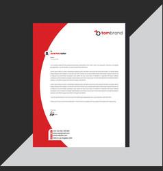 Elegant black red letterhead template design vector