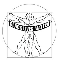 even vitruvian man is disturbed with systemati vector image