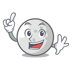 Finger golf ball mascot cartoon vector