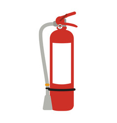 Fire extinguisher with blank label icon image vector