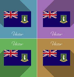 Flags VirginIslandsUK Set of colors flat design vector image
