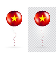foil balloons in national flag vietnam vector image
