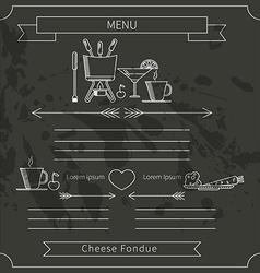 Fondue menu template vector image