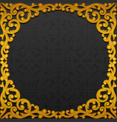 frame with traditional floral ornament vector image