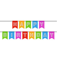 Happy birthday sign vector