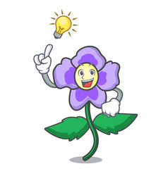 Have an idea pansy flower mascot cartoon vector
