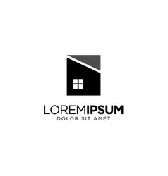 Home and real estate logo design vector