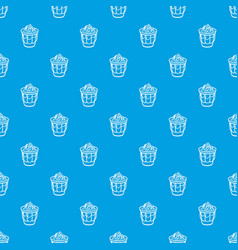 ice cream in glass pattern seamless blue vector image