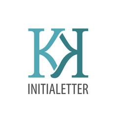 initial letter kk logo concept design symbol vector image