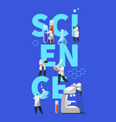 innovation experiment laboratory scientific banner vector image
