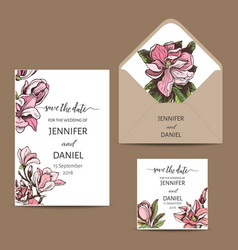 invitation for wedding card vector image