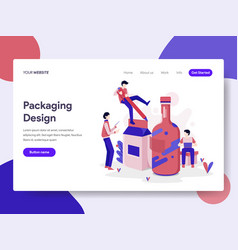 landing page template of packaging design vector image