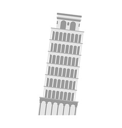 Leaning tower pisa on a white background italy vector