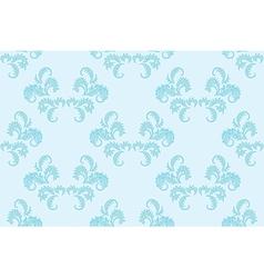 light blue floral seamless background vector image