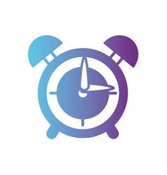 line round clock alarm object design vector image