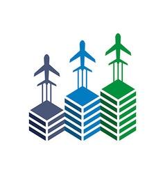 Logo airplane transportation travel holiday vector