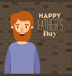 man half body with wall background with text of vector image