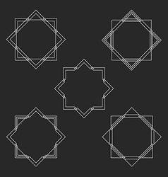 minimal hipster monogram frames set mockup vector image