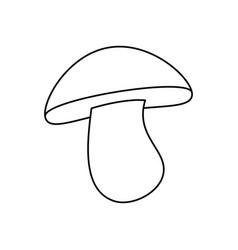 Mushroom delicious food vector