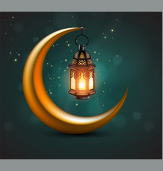 Muslim feast holy month ramadan 3d vector