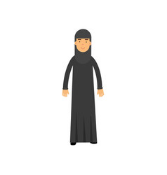muslim woman in national arabic costume cartoon vector image