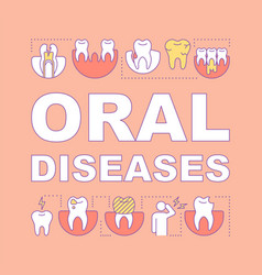 Oral diseases word concepts banner vector