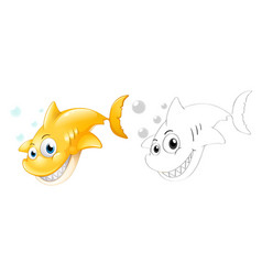 Outline animal for shark vector