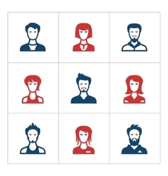 Set color icons of people vector image