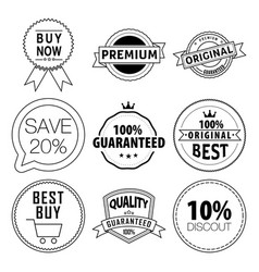 set labels vector image