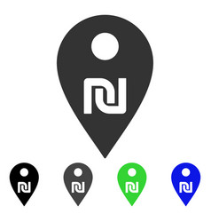 Shekel map marker icon vector