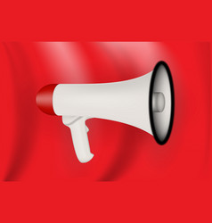 silhouette of colorful ludspecker on red flag vector image