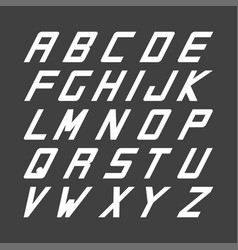 sport font english simple alphabet vector image