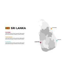 sri lanka map infographic template slide vector image
