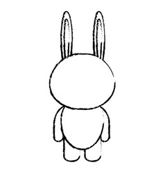 Stuffed animal rabbit vector