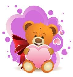 Teddy Bear with Heart2 vector image