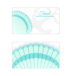 template of the summer sea banner vector image