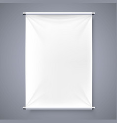 The cloth banner signboard isolated background vector
