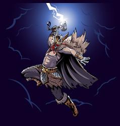 Thor god thunder vector