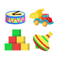 Toys collection claus factory vector
