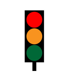 traffic light 3912 vector image