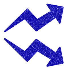 Trends icon grunge watermark vector