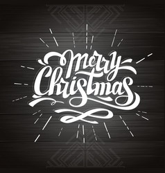 Typography hipster christmas card design vector