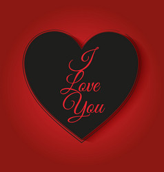 Valentines day background with i love you text vector